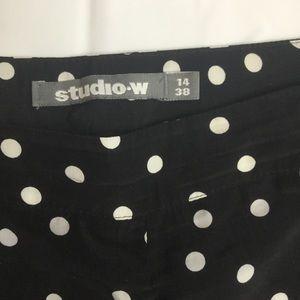 studio W Pants - StudioW polka dot plazo pants. Size 14
